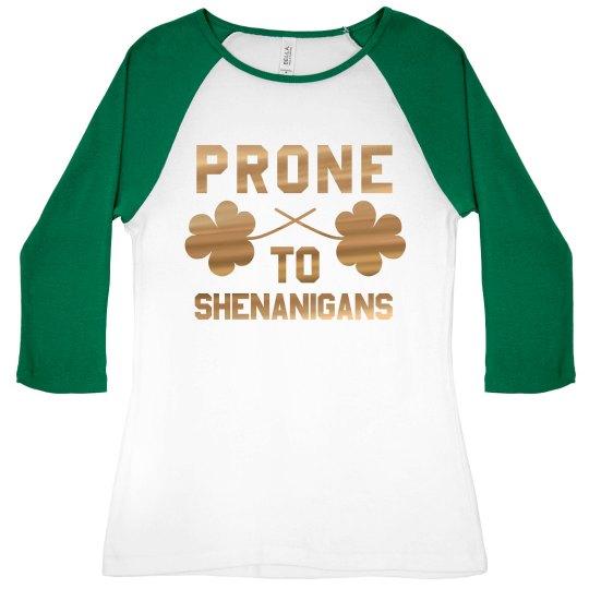 Gold Foil Irish Shenanigans