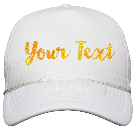 Gold Glitter Custom Hat