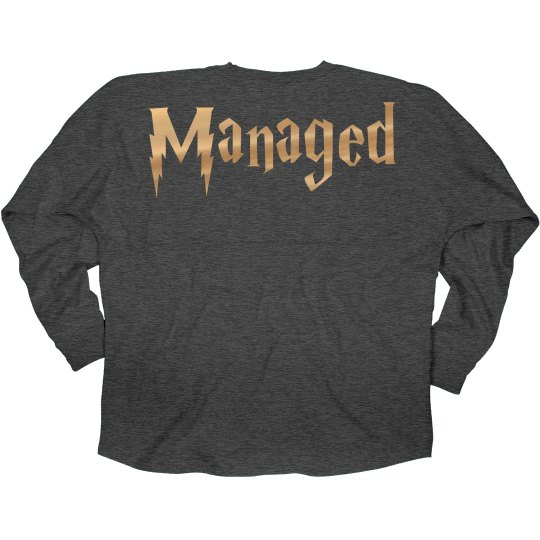 Golden Metallic Managed Jersey