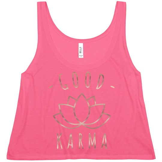 Good Karma Rose Metallic Yoga Crop