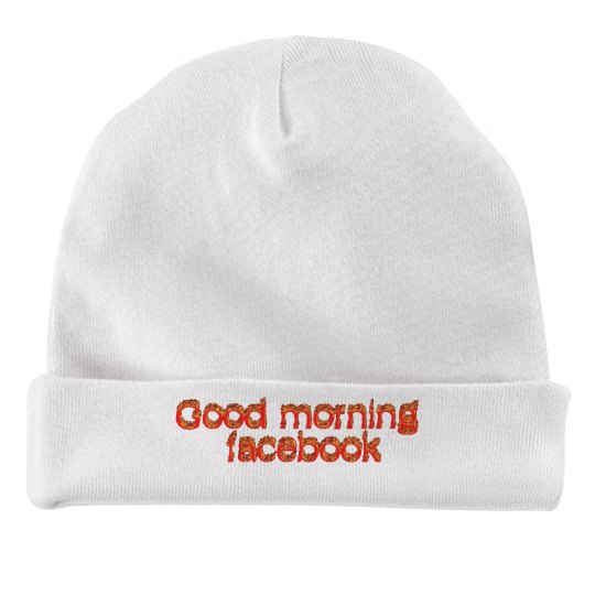 Good Morning fb baby hat