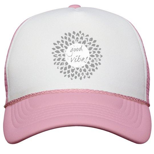Good Vibes distressed hat