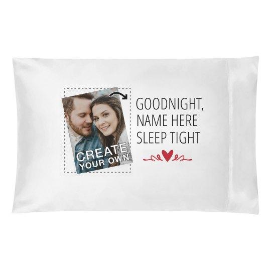 Goodnight Name Here Custom Photo Pillow