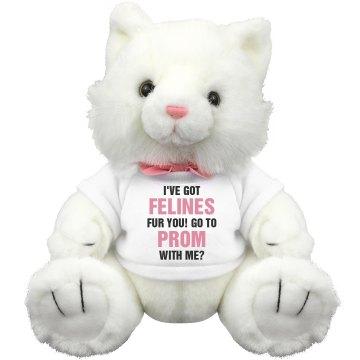 Got Felines Prom Date Cat Plush