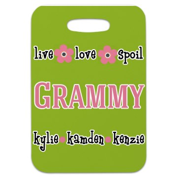 Grammy Personalized Luggage Tag