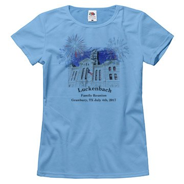 granbury tx courthouse fourth of july womens shirt