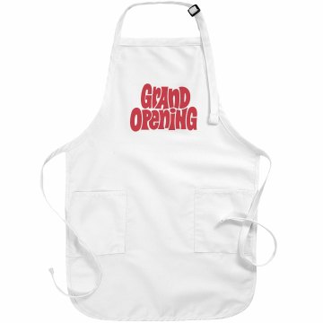 Grand Opening Apron