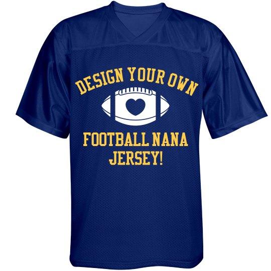 Grandma Nana the Football Fan With Custom Name Number