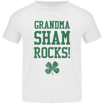 Grandma Shamrocks St Patrick Kid