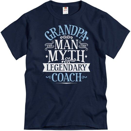 Grandpa Man Myth Legendary Coach