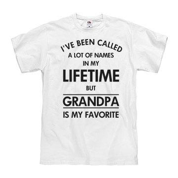 Grandpa my favorite name shirt