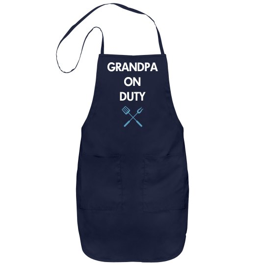 Grandpa on duty