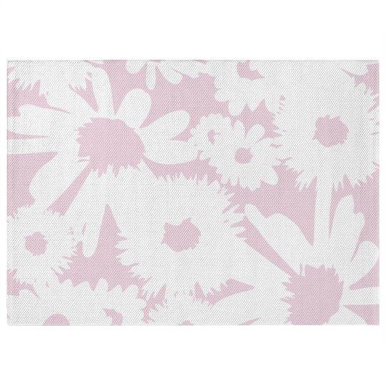 Graphic Floral Print Pastel Rug