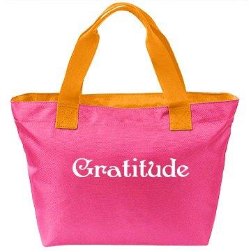 Gratitude pink bag