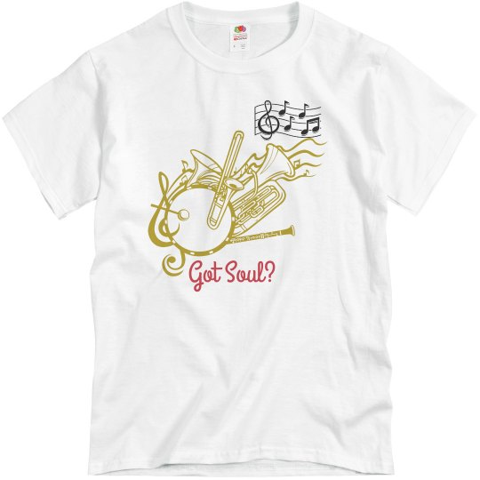 Gray tee w/musical graphic