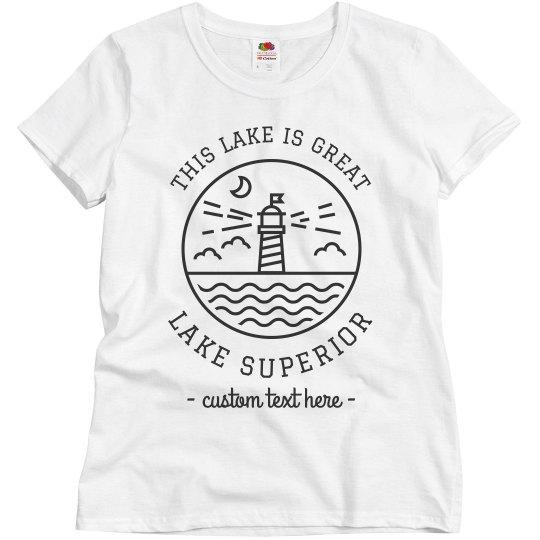 Great Lakes Custom Lake Vacation Trip Shirts