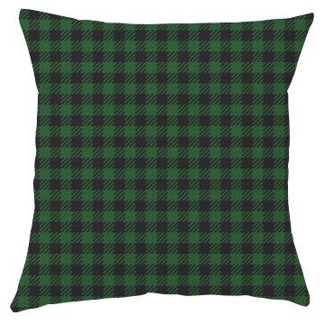 Green & Black Plaid Pillow Cover