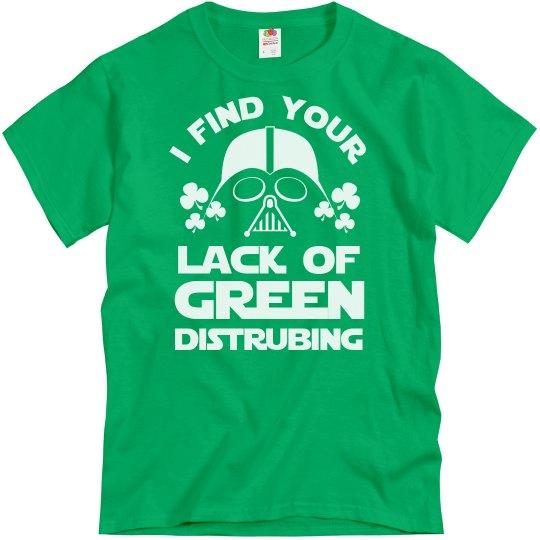 Green Disturbing Vader St Patricks