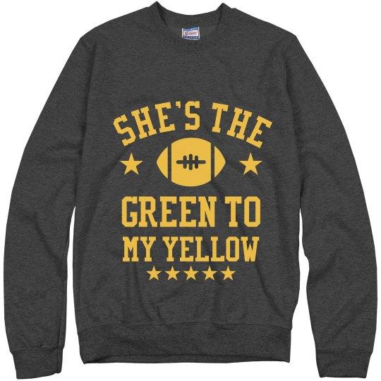 Green To My Yellow Sweater