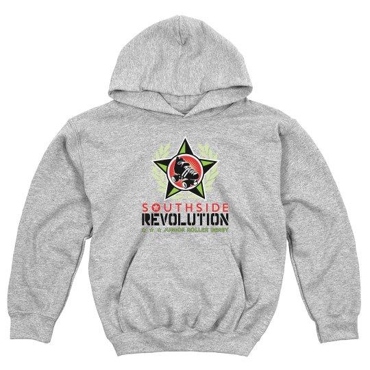 Grey Hoodie Youth - Color Logo