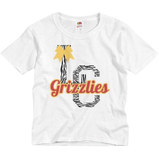 Grizzlies Zebra/bow Youth