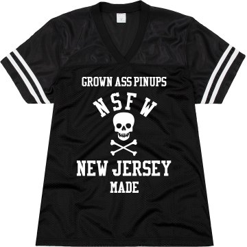 GROWN ASS PINUPS NSFW UNISEX JERSEY