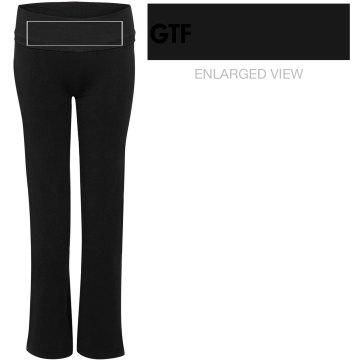 GTF Fuchsia and Black Pants