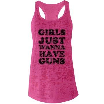 GUNS -shocking pink