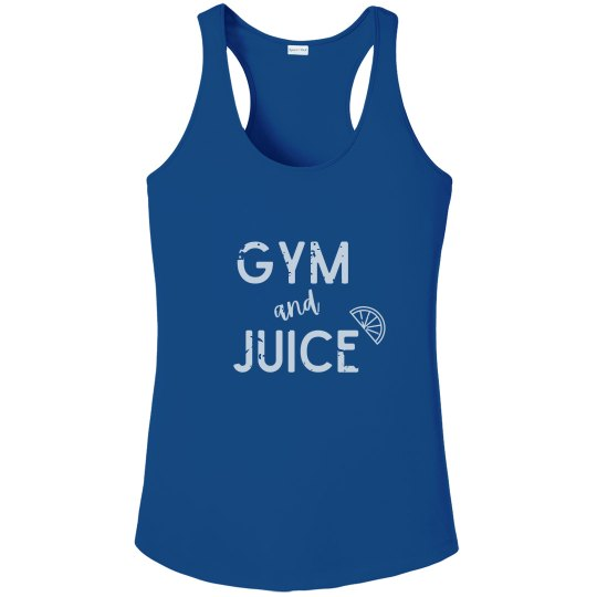 Gym & Juice Performance Tank (White Text)