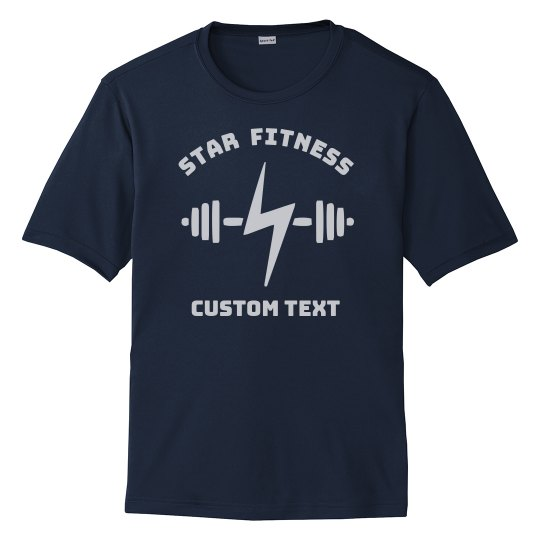 Gym or Fitness Studio Custom Workout Tees