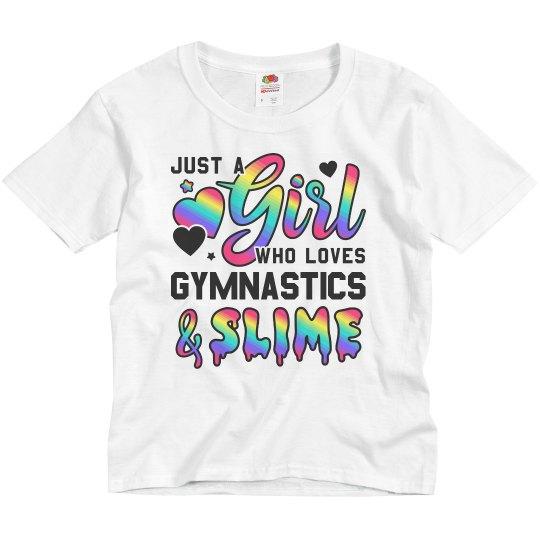 Gymnastics Girl Gift Rainbow Slime