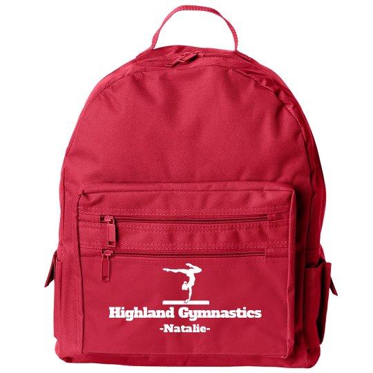 Gymnastics Student Small Gear Bag With Custom Name