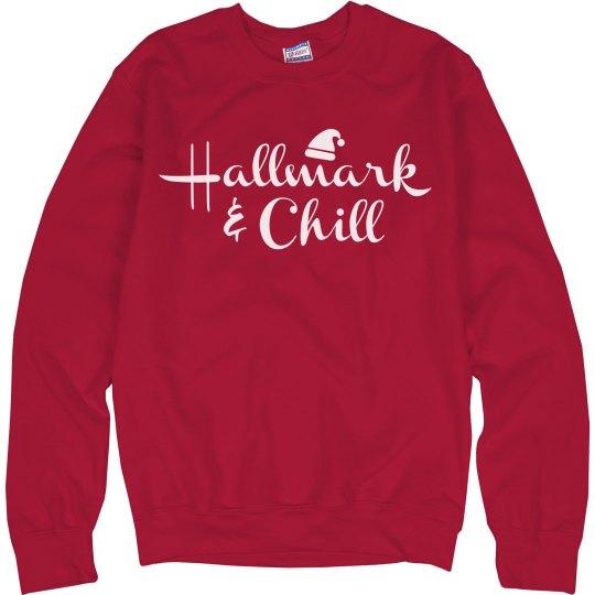 Hallmark & Chill Ugly Xmas Sweater