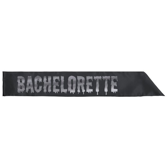 Halloween Bachelorette Silver Text