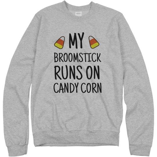Halloween Broomstick Runs On Candy Corn