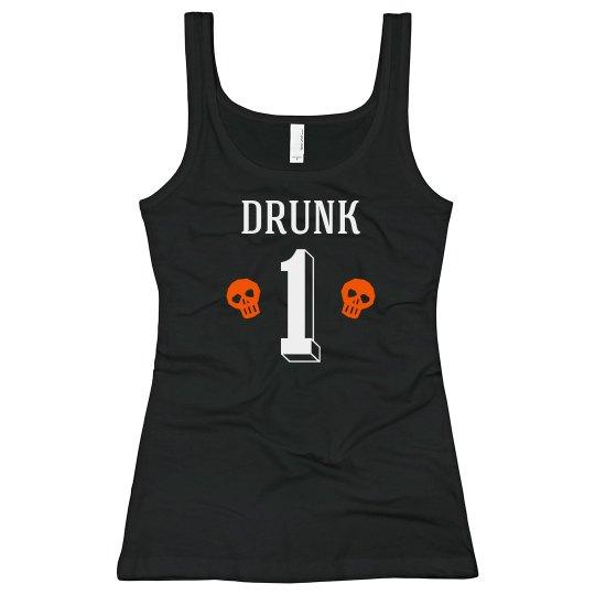 Halloween Drunk One Best Friends