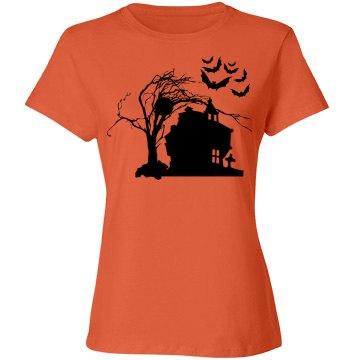 Halloween Manor Women's Tee