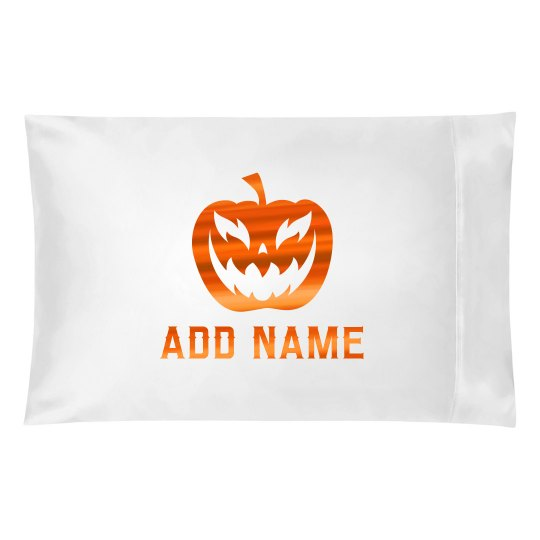 Halloween Metallic Custom Name