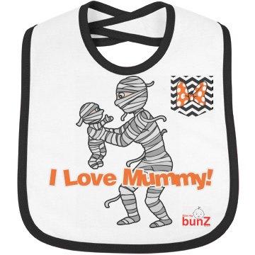 Halloween Mummy girl Bib