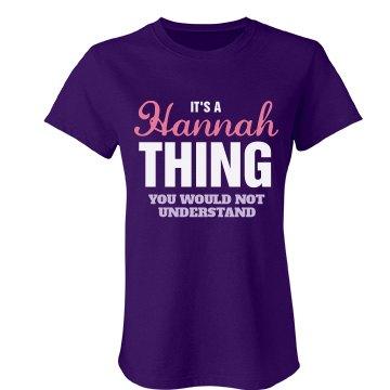 Hannah thing