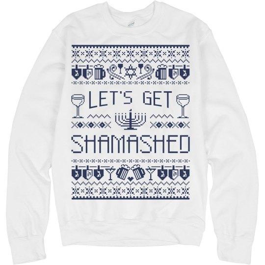 Hanukkah Drinking Sweater