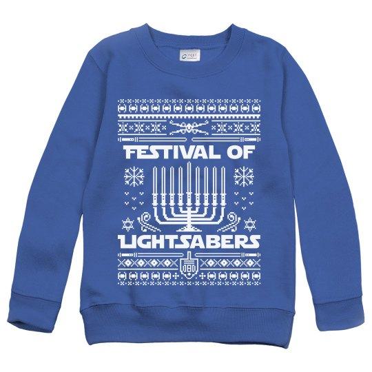 Hanukkah Jedi Knight Ugly Sweater
