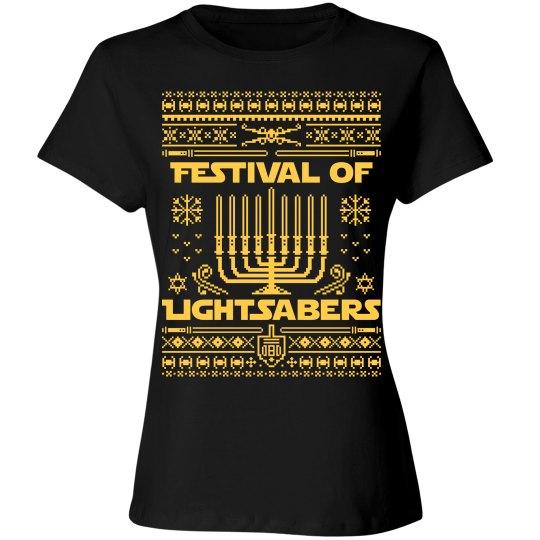 Hanukkah Jedi Women's Tee