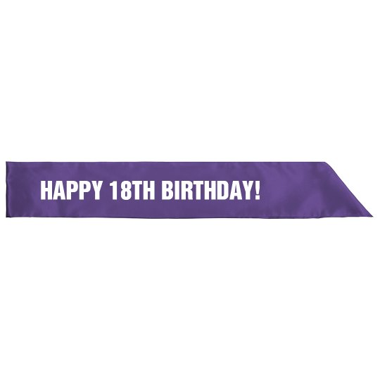 Happy 18th Birthday Girl
