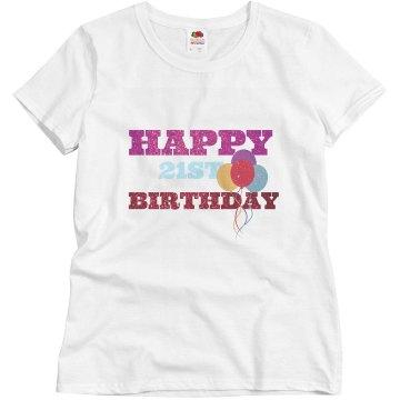 Happy 21st Birthday Tee