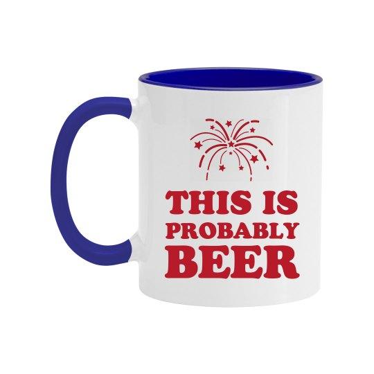 Happy 4th Of July Beer Mug
