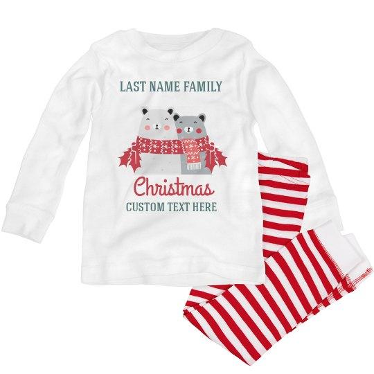 Happy Bear Matching Family Christmas Pajamas
