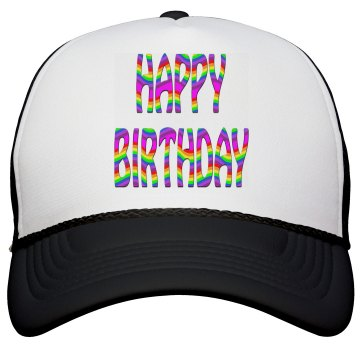 Happy Birthday Peak Cap