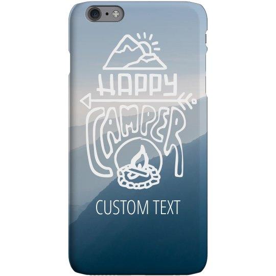 Happy Camper Custom iPhone Case