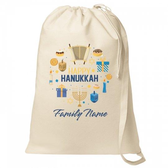 Happy Hanukkah Custom Family Bag